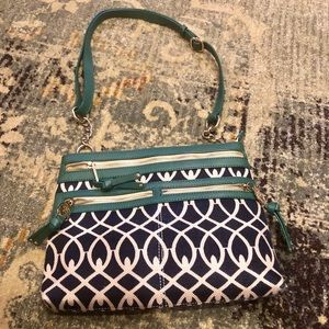 Spartina 449 | Linen and Leather Crossbody bag